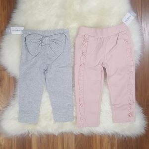 Carter's 2 Pair Bow Back Legging and Ruffle Pant